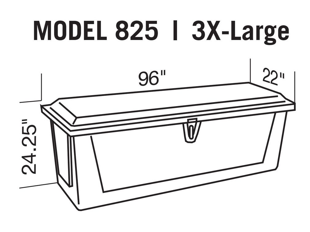 8 ft fiberglass dock box