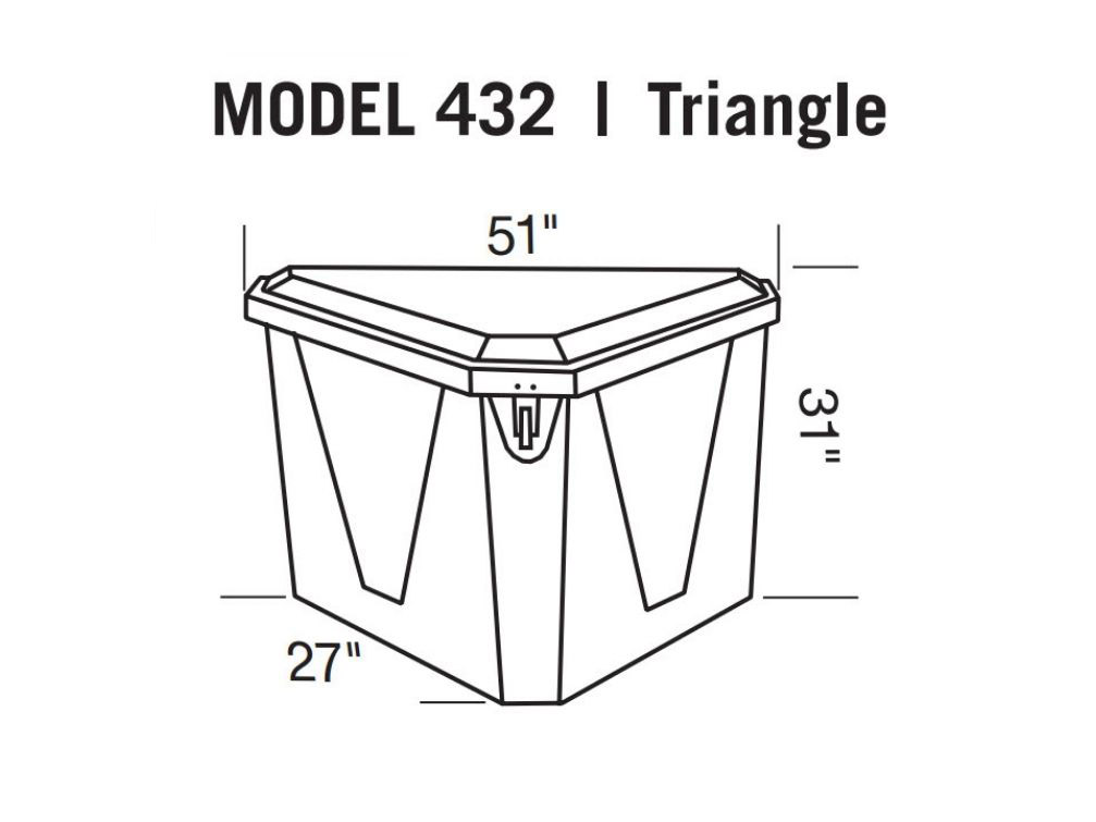 Triangle Dock Box